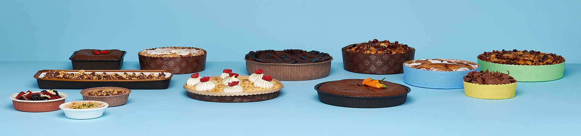 Novacart pies paper baking molds