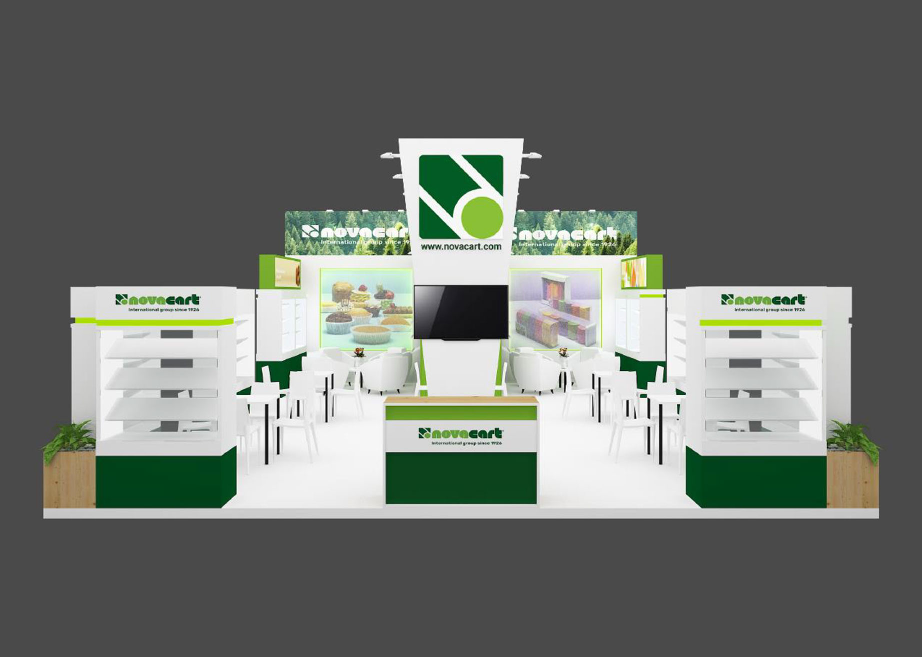 Gulfood Manufacturing Novacart stand front