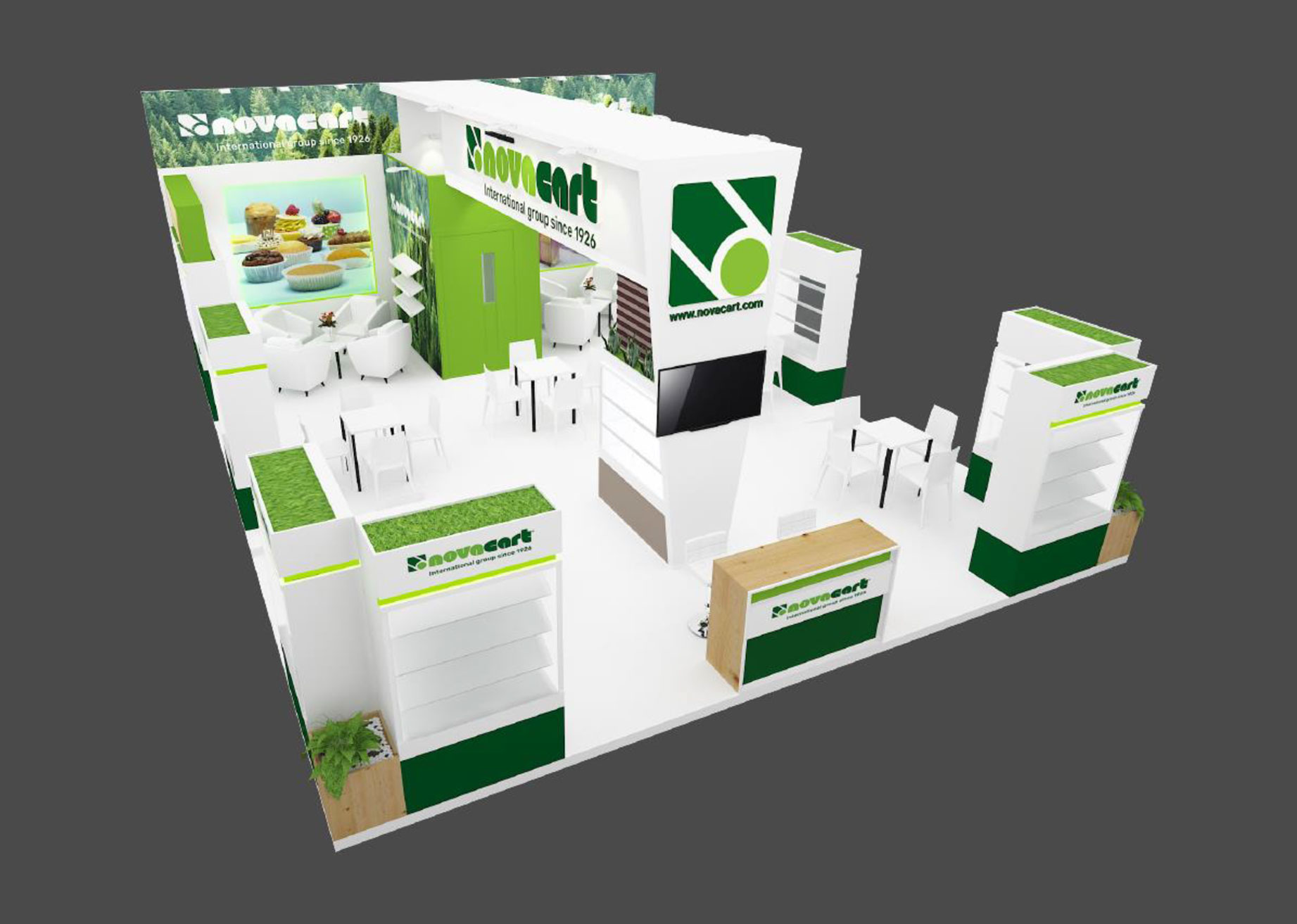 Gulfood Manufacturing Novacart stand from above