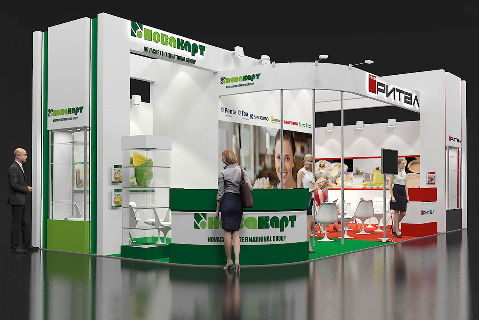 Novacart Modern Bakery Moscow stand rendering