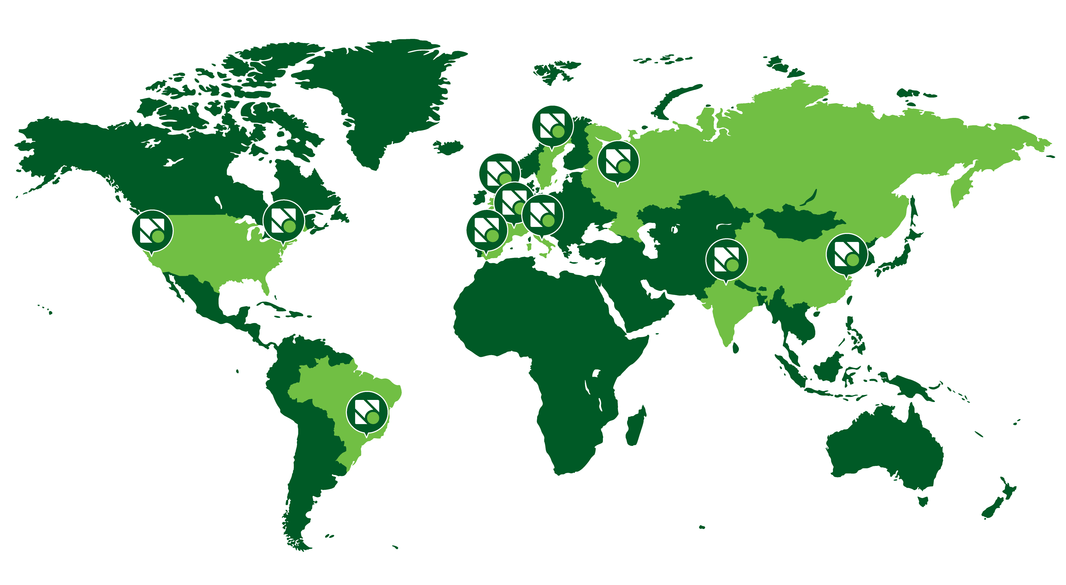 Novacart Group sedi produttive nel mondo