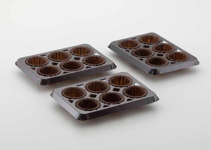 Neupack muffin trays for the food industry